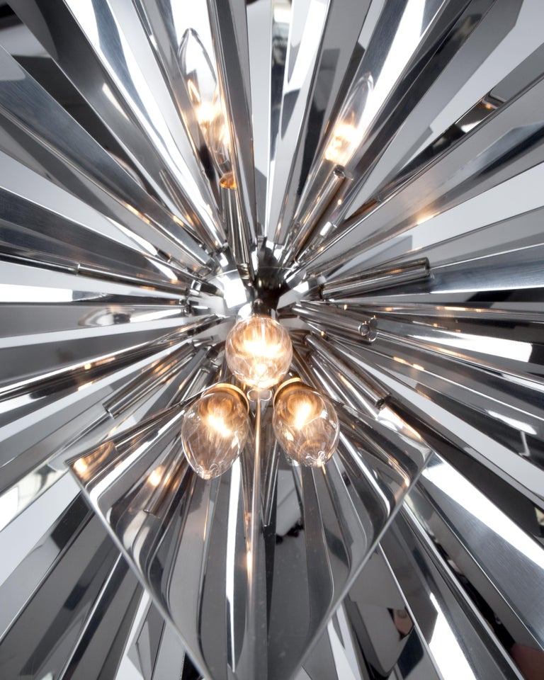 American California Sunburst 45 Chandelier designed by Tony Duquette for Remains Lighting For Sale