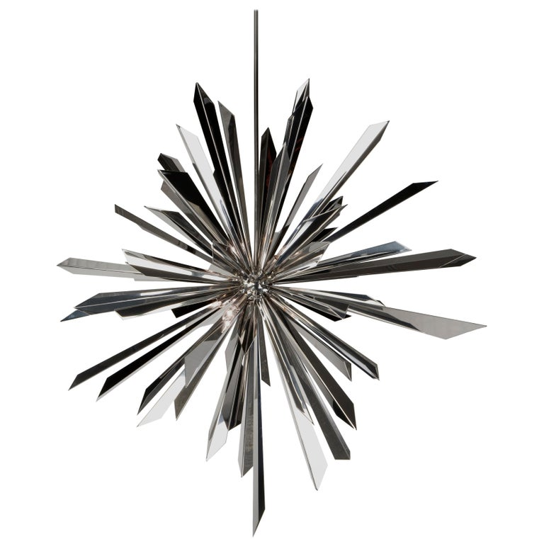 California Sunburst 45 Chandelier designed by Tony Duquette for Remains Lighting For Sale