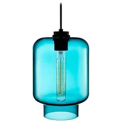 Calla Condesa Handblown Modern Glass Pendant Light, Made in the USA