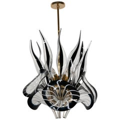 Calla Lily Chandelier in the Manner of Franco Luce, 1970s