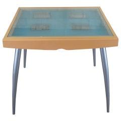Calligaris Italian Modern Bon Ton Glass Extendable Dining Breakfast Table MCM