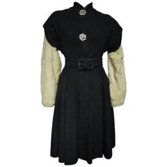 Callot Soeurs French Couture Coat Dress Circa 1934/1937