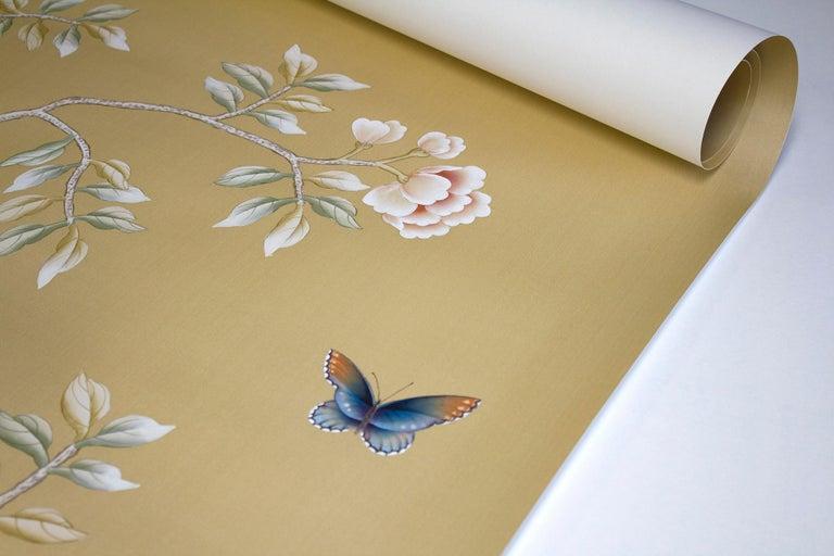 Hand-Painted Calloway Chinoiserie Mural