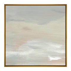 """Calm, Square II"" Decorative Wall Print on Canvas with Frame by CuratedKravet"