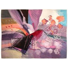 Calman Shemi Großer Abstrakter Wandteppich