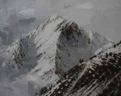 Big Benasque 2, Snow series - Large Mountain Landscape Painting