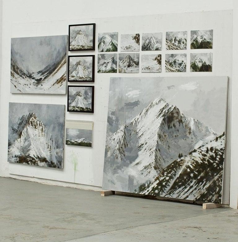 Big Benasque 2, Snow series - Large Mountain Landscape Painting For Sale 1