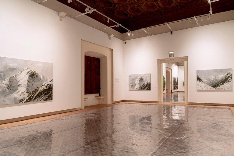 Big Benasque 2, Snow series - Large Mountain Landscape Painting For Sale 2