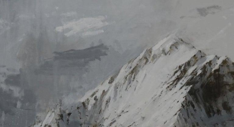 Big Benasque 2, Snow series - Large Mountain Landscape Painting For Sale 3