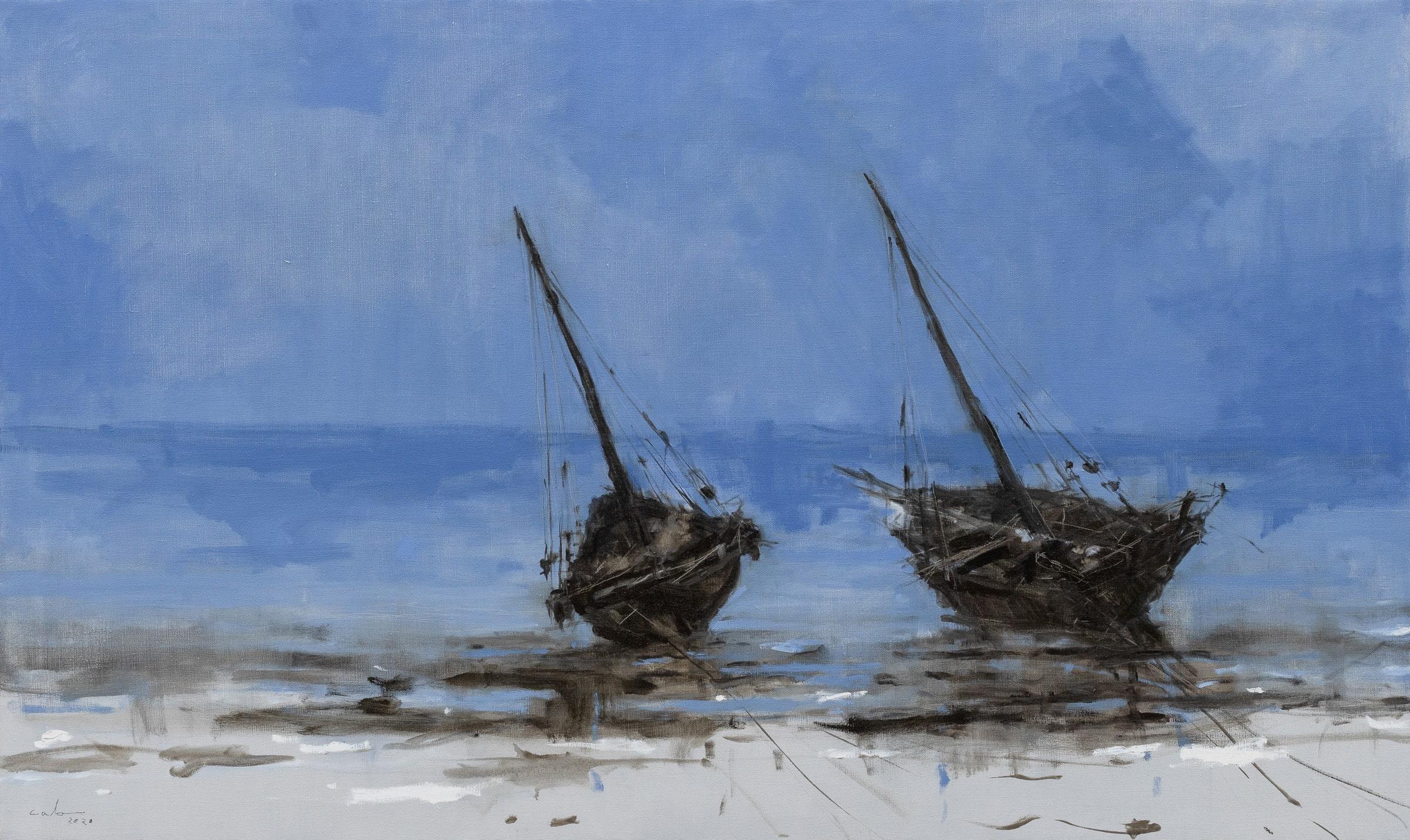 Coast of Bagamoyo #4 (Tanzania) - Landscape Painting