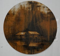 Iron Jungles #11, Jungle series (Tondo Painting)