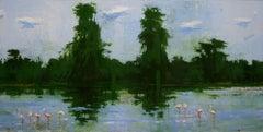 Lake Manyara n°1 - Large Waterscape Painting