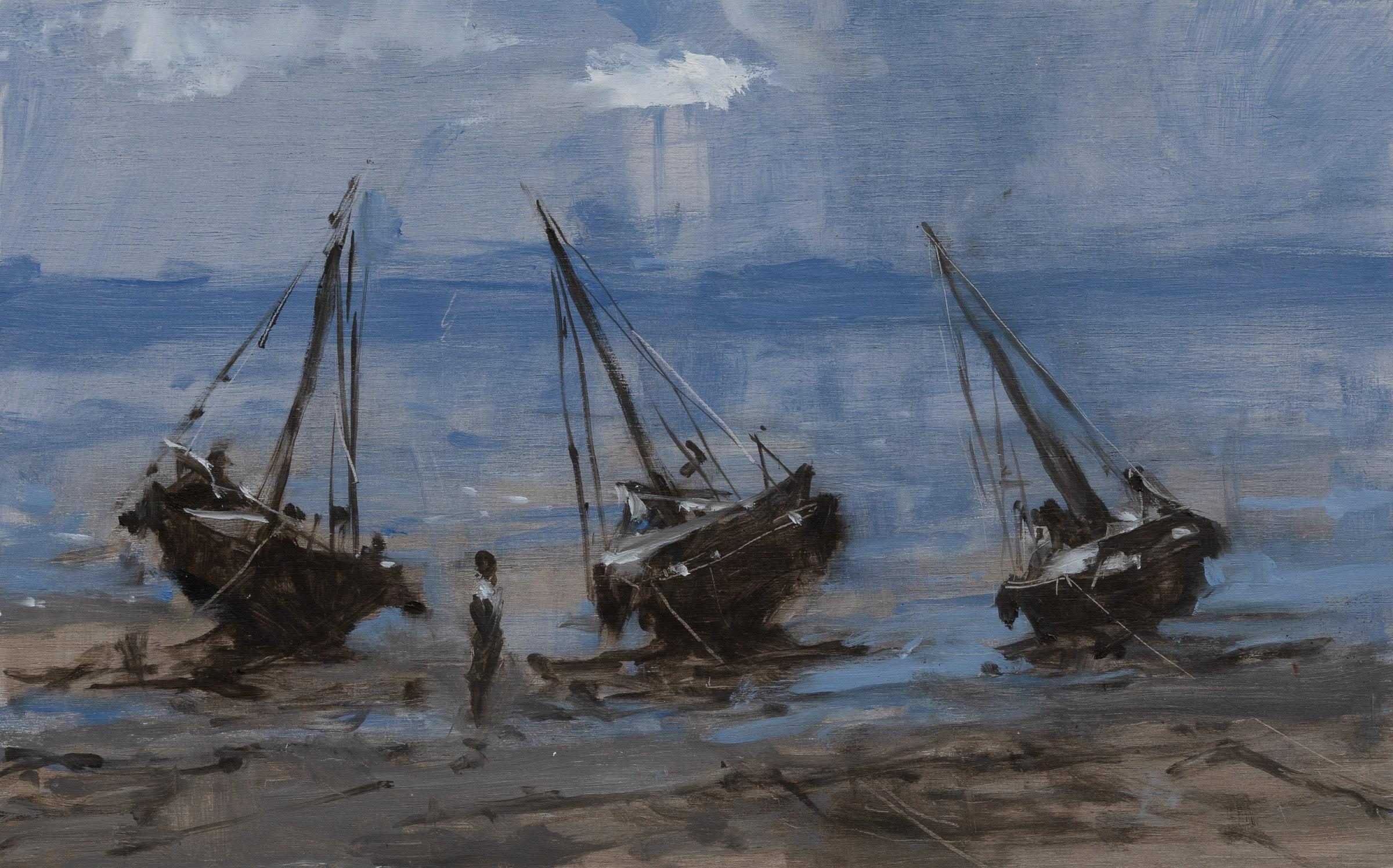 Marinas n°1 (Tanzania) - Landscape Painting