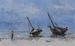 Marinas n°13 by Calo Carratalá - Landscape Painting, seascape, Tanzania