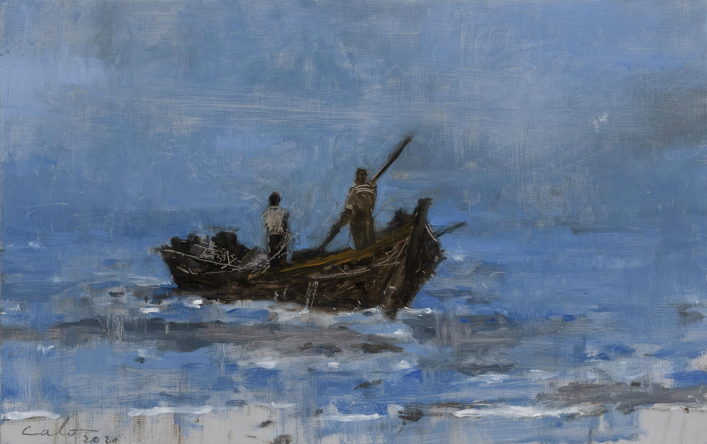 Marinas n°35 (Tanzania) - Landscape Painting
