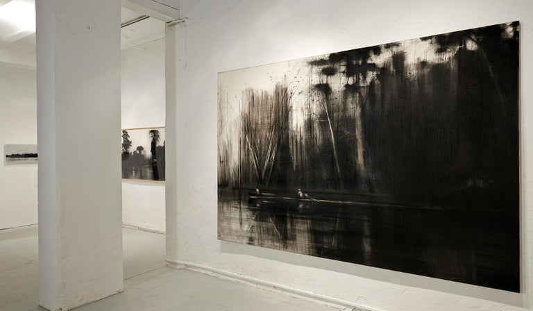 Selvas Negras n°2 - Tropical Forest Landscape, large-scale drawing - Contemporary Painting by Calo Carratalá