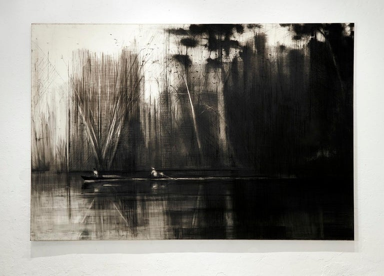 Selvas Negras n°2 - Tropical Forest Landscape, large-scale drawing For Sale 1