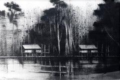 Selvas Negras n°9, Jungle series - Landscape Painting