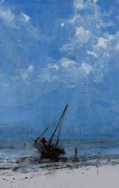 Todo avanza hacia su final I - Landscape Painting, seascape, Tanzania