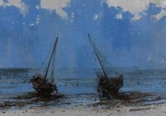 Todo avanza hacia su final V - Landscape Painting, seascape, Tanzania