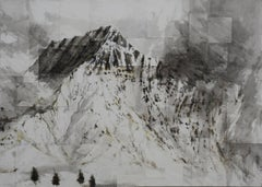 Benasque 1, Snow series - Mountain Landscape Watercolor