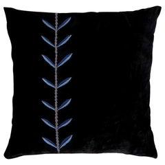 Calouste S, Hand Embroidered Silk Velvet Cushion