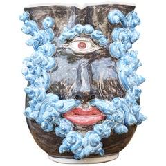 Caltagirone Ceramic Carafe Vase Model Ciclope