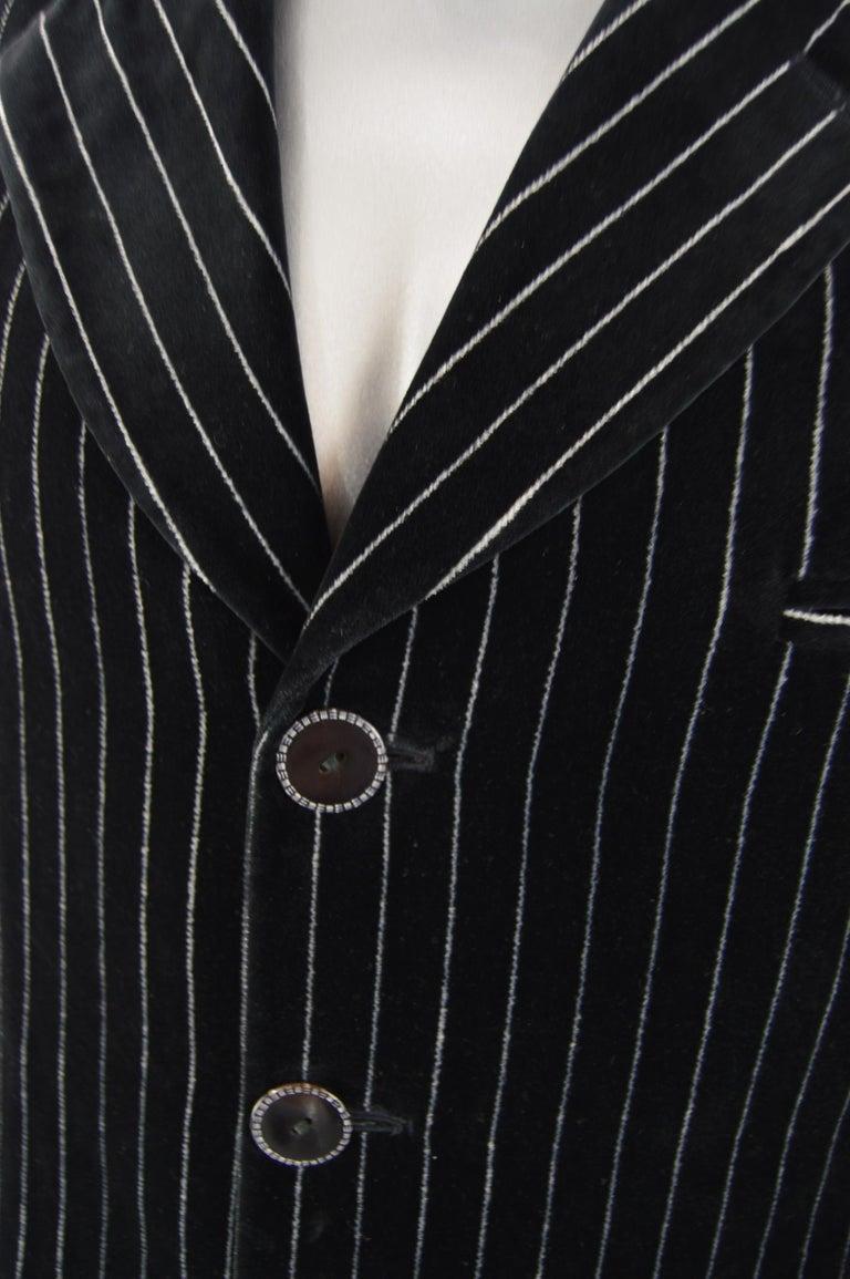 Men's Calugi e Giannelli Mens Velvet Pinstripe Suit For Sale