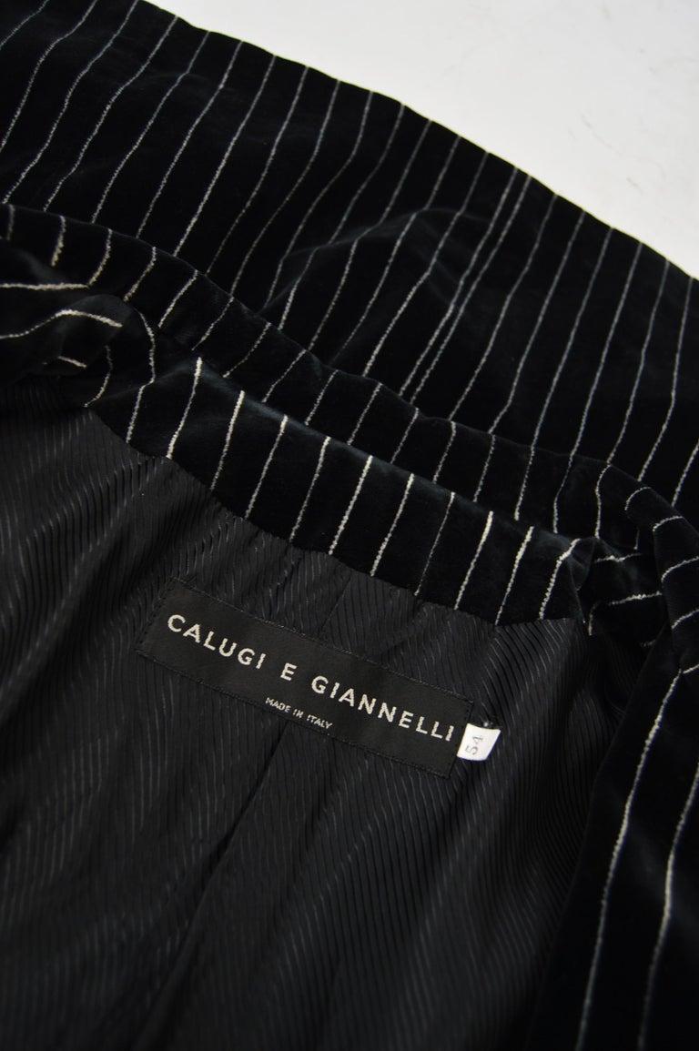 Calugi e Giannelli Mens Velvet Pinstripe Suit For Sale 4