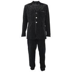 Calugi e Giannelli Mens Velvet Pinstripe Suit