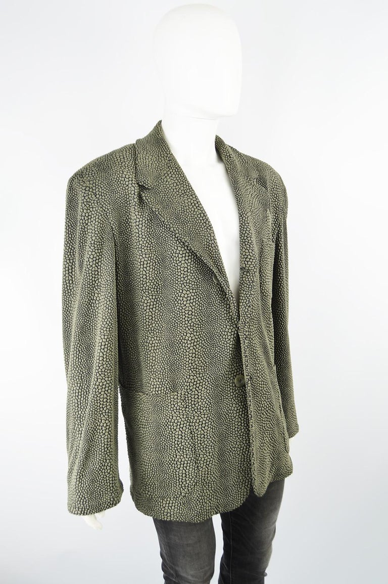 Calugi e Giannelli Men's Vintage 1980s 3D Textured Avant Garde Blazer Jacket For Sale 1