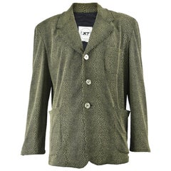 Calugi e Giannelli Men's Vintage 1980s 3D Textured Avant Garde Blazer Jacket