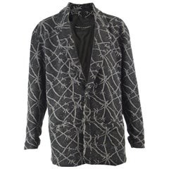 Calugi e Giannelli Men's Vintage Barbed Wire Wool Oversized Jacket, 1980s