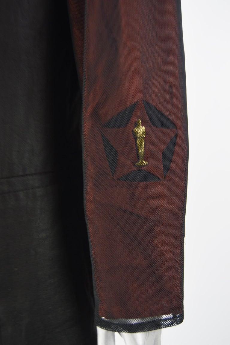 Women's Calugi e Giannelli Mens Vintage Oscars Statue Mesh Sleeve Jacket For Sale