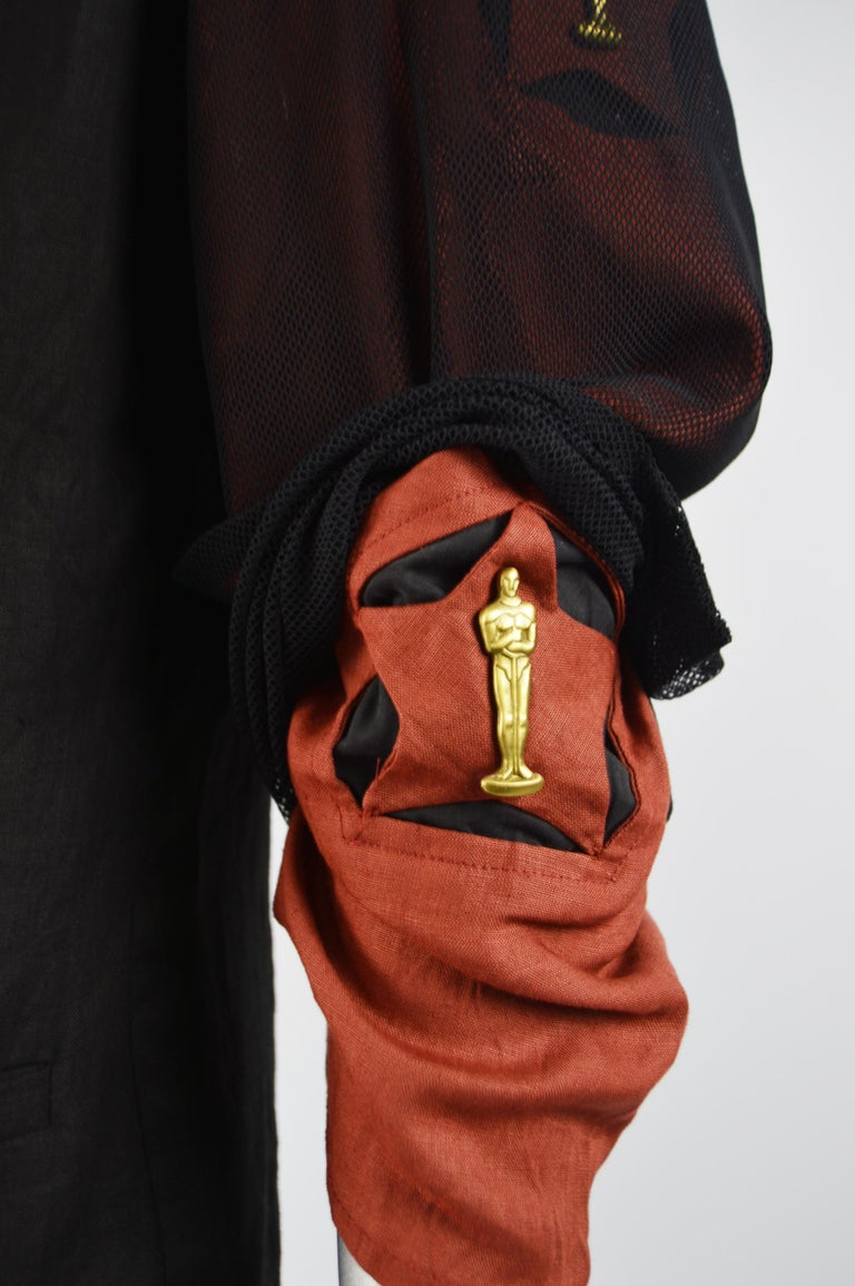 Calugi e Giannelli Mens Vintage Oscars Statue Mesh Sleeve Jacket For Sale 1