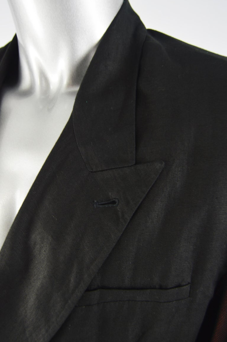 Calugi e Giannelli Mens Vintage Oscars Statue Mesh Sleeve Jacket For Sale 3