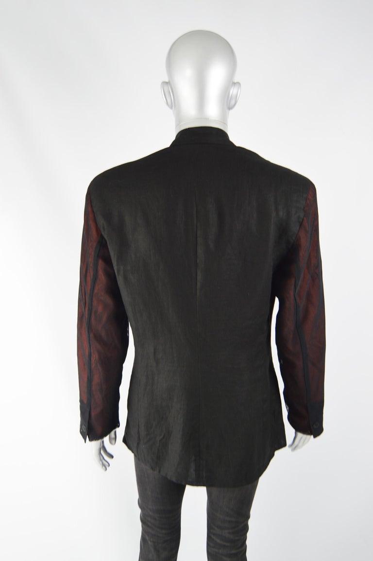 Calugi e Giannelli Mens Vintage Oscars Statue Mesh Sleeve Jacket For Sale 4