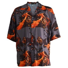 Calugi e Giannelli Men's Vintage Starfish Sea Print Short Sleeve Shirt, 1980s