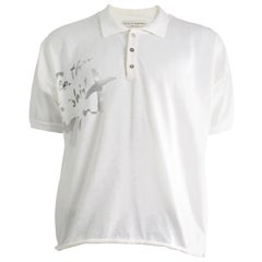Calugi e Giannelli 'See Thru T-Shirt Man' Vintage Cotton Knit Polo Shirt, 1980s