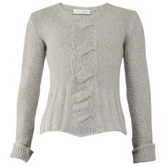 Calugi e Giannelli Vintage Mens Cable Knit Sweater