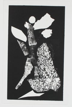 Monochromatic Abstract Monotype, Late 20th Century