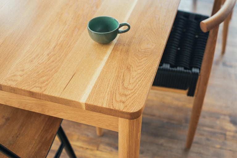 Calvin Family Table Modern Solid Custom Dining Table In