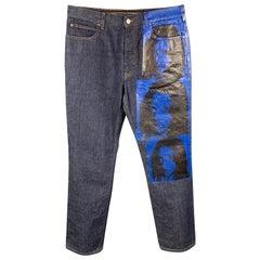 CALVIN KLEIN 205W39NYC by RAF SIMONS x Andy Warhol Size 34 Indigo Pants