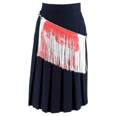 Calvin Klein 205W39NYC fringe detail pleated skirt XXS