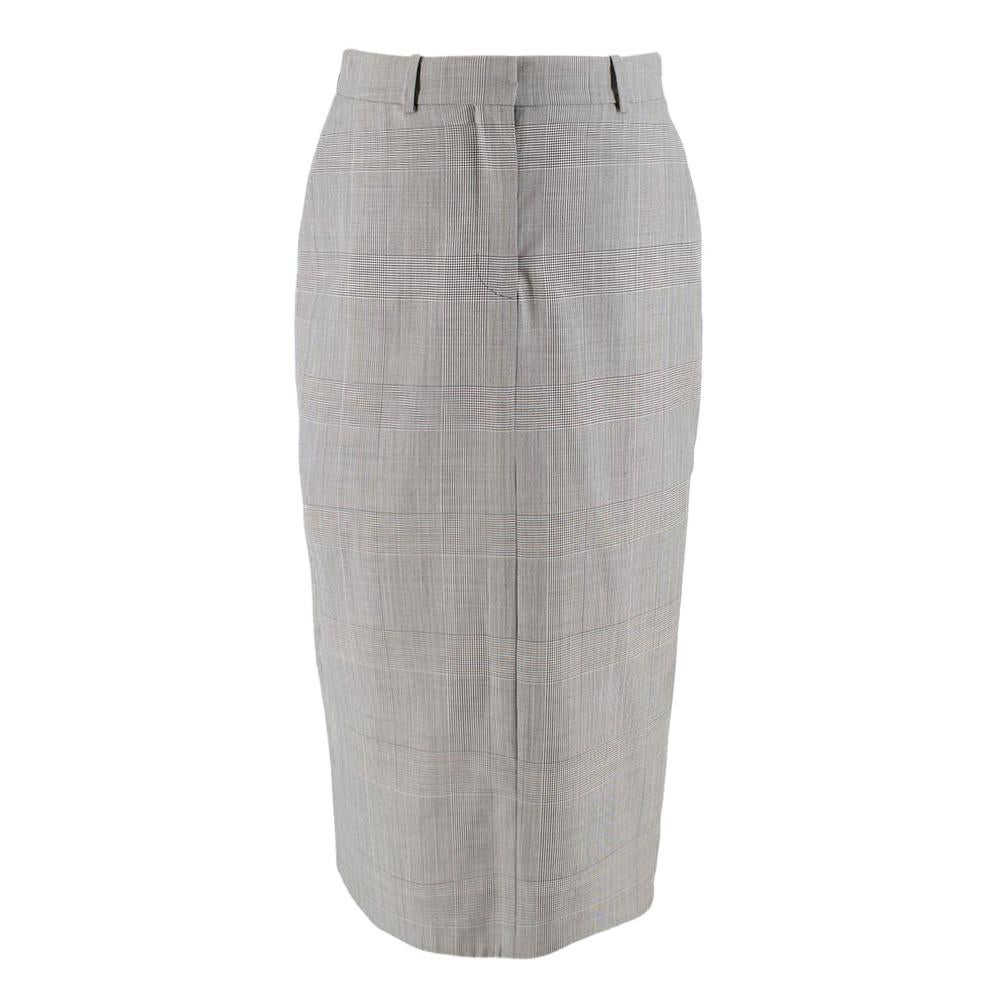 Calvin Klein 205W39NYC Prince of Wales Checked Pencil Skirt US 4/IT 40/FR 36