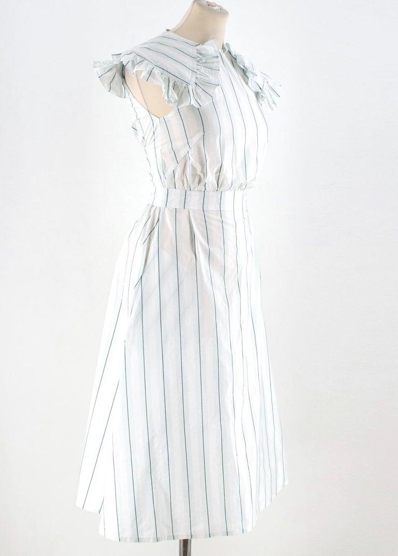 bfda8e4a795 Calvin Klein 205W39NYC White & Green Striped Midi Dress - White & Green,  lightweight,