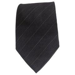 Calvin Klein blue denim silk tie