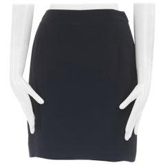 "CALVIN KLEIN COLLECTION 100% silk black concealed zip mini skirt 25"""