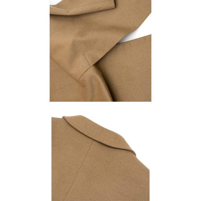 Calvin Klein Collection Camel Wool & Cashmere Blend Coat SIZE 6/42 For Sale 5