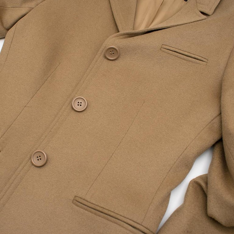 Calvin Klein Collection Camel Wool & Cashmere Blend Coat SIZE 6/42 For Sale 1